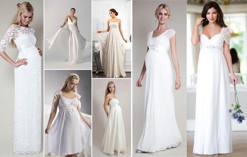 Как подобрать свадебные платья для беременных?